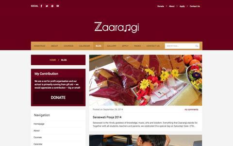 Screenshot of Blog zaarangi.org - Zaarangi  Blog » Zaarangi - captured Oct. 9, 2014