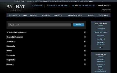 Screenshot of FAQ Page baunat.com - FAQ - BAUNAT - captured May 9, 2017