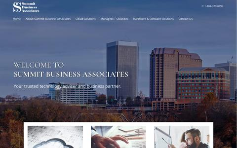 Screenshot of Home Page summitbiz.net - Managed IT Services | Business Cloud Solutions | Richmond, VA - captured Oct. 18, 2018