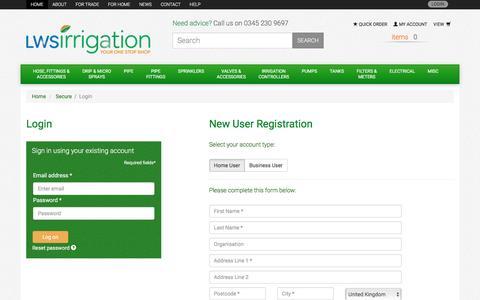 Screenshot of Login Page lws.uk.com captured Aug. 22, 2016