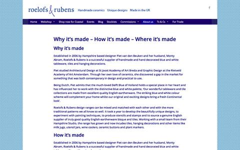 Screenshot of About Page roelofsrubens.co.uk - | Roelofs & Rubens - captured Sept. 21, 2018