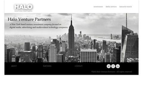 Screenshot of Home Page haloventures.com - Halo Ventures | - captured Sept. 25, 2015