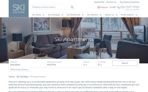 Ski Apartments | Ski Solutions