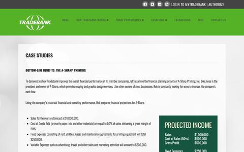 Screenshot of Case Studies Page tradebank.com - Case Studies - Tradebank International - captured Sept. 23, 2018