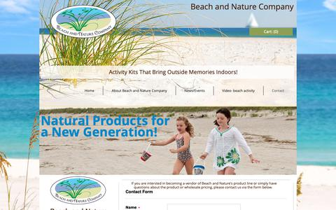 Screenshot of Contact Page beachandnatureco.com - contact - captured Dec. 18, 2018