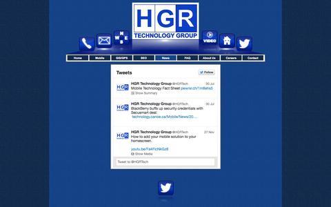Screenshot of Press Page hgrtg.com - news - captured Oct. 1, 2014