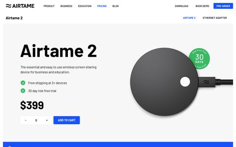 Screenshot of Pricing Page airtame.com - Buy Airtame - Select an Airtame for each screen - captured Oct. 15, 2018