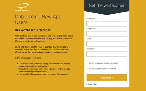 Onboarding New App Users