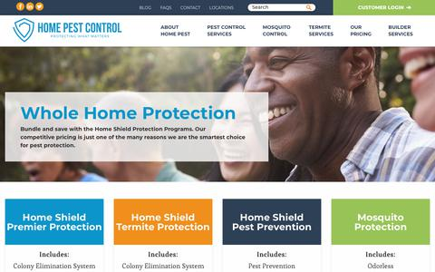 Screenshot of Pricing Page homepest.com - Home Shield Pest Control Programs - Home Pest Control - captured Sept. 29, 2018