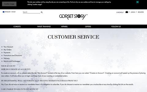 Screenshot of FAQ Page corset-story.eu - Customer Service - captured Dec. 12, 2017