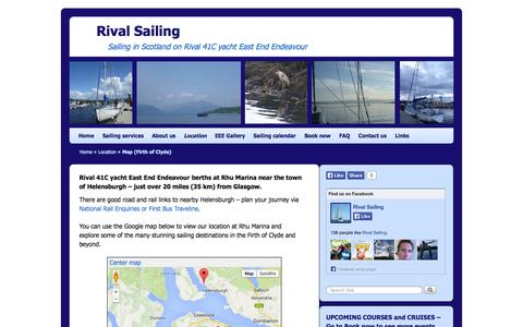 Screenshot of Maps & Directions Page rivalsailing.co.uk - Rival Sailing (RYA Training Centre) - Rhu Marina, Firth of Clyde - captured Sept. 30, 2014
