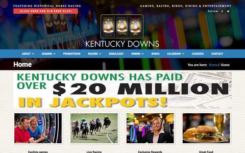 Screenshot of Home Page kentuckydowns.com - Home - Kentucky Downs - captured Sept. 30, 2014