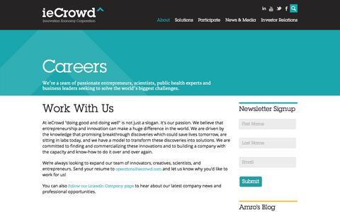 Screenshot of Jobs Page iecrowd.com - Work | ieCrowd - captured Sept. 16, 2014