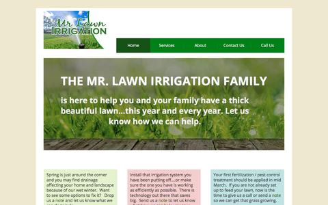 Screenshot of Home Page mrlawnirrigation.com - Mr. Lawn Irrigation - captured Oct. 25, 2017
