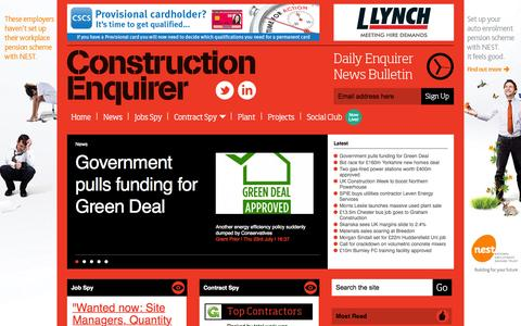 Screenshot of Home Page constructionenquirer.com - Construction Enquirer - captured July 24, 2015