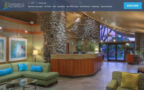 Screenshot of Contact Page halfmooninn.com - Contact Us | Humphreys Half Moon Inn San Diego - captured Sept. 23, 2018