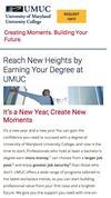 New Landing Page University of Maryland University College