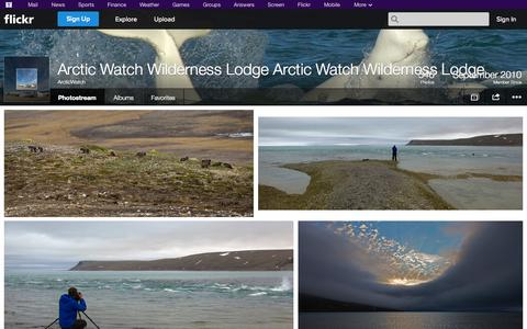 Screenshot of Flickr Page flickr.com - Flickr: ArcticWatch's Photostream - captured Oct. 23, 2014