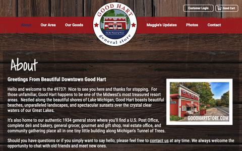 Screenshot of About Page goodhartstore.com - About  |  Good Hart General Store - captured Dec. 15, 2018