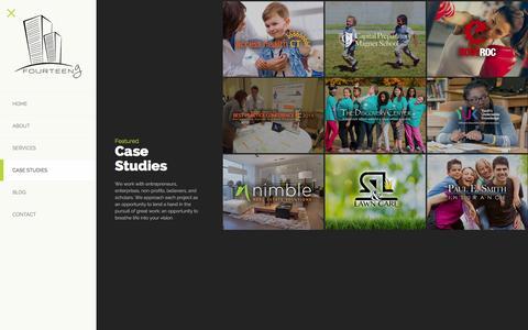 Screenshot of Case Studies Page fourteeng.com - Case Studies - FourteenGFourteenG - captured Feb. 10, 2016