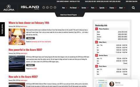 Screenshot of Blog islandacura.com - Island Acura Blog | New and Pre-Owned Acura Dealer - captured Sept. 20, 2018