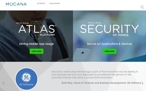 Screenshot of Home Page mocana.com - Mocana - Strong and Usable Security - captured Sept. 12, 2015