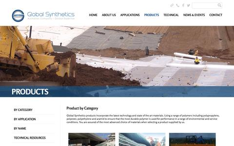 Screenshot of Products Page globalsynthetics.com.au - Global Synthetics | 			Products - Global Synthetics - captured July 14, 2016