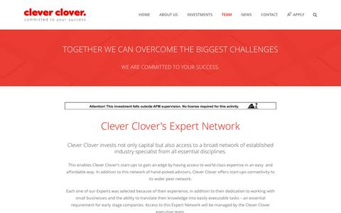Screenshot of Team Page cleverclover.nl - Team   Clever Clover - captured May 18, 2017