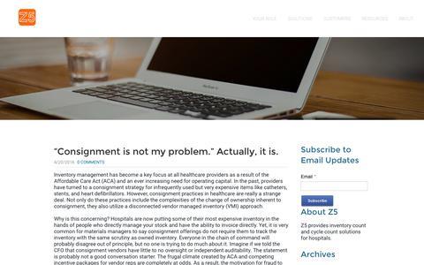 Screenshot of Blog z5inventory.com - Z5 Inventory - Blog - captured Jan. 18, 2017