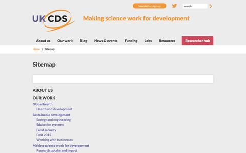 Screenshot of Site Map Page ukcds.org.uk - Sitemap | UKCDS - captured July 21, 2016