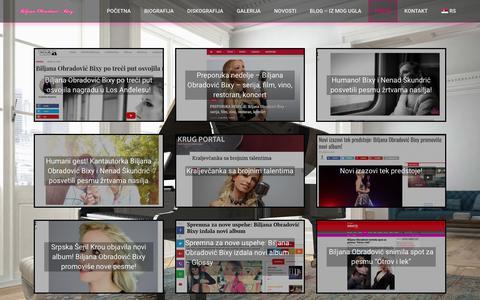 Screenshot of Press Page bixymusic.com - Press | Zvanična stranica Biljane Obradović Bixy - captured Aug. 2, 2018
