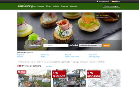 Screenshot of Home Page guiacatering.com - Catering - GuiaCatering.com - captured Sept. 24, 2014