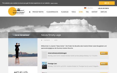 Screenshot of Press Page aviation-broker.com - Neuigkeiten - captured Jan. 10, 2019