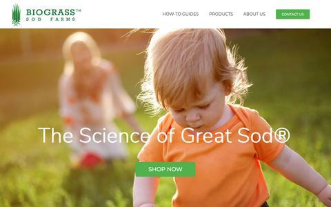 Screenshot of Home Page biograss.com - BioGrass: Utah Sod Farm, Grass, Seed and Soil - captured Oct. 5, 2018