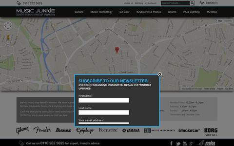 Screenshot of Contact Page musicjunkie.co.uk - Contact Us - captured Oct. 7, 2014
