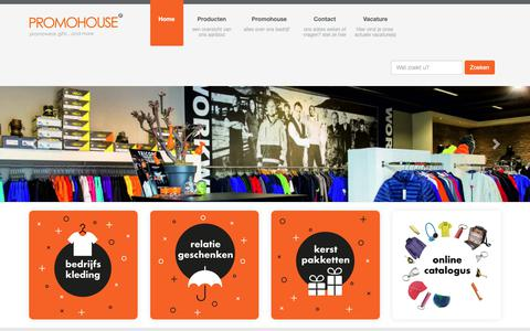Screenshot of Home Page promohouse.nl - Promowear, gifts... and more - Promohouse - captured Sept. 30, 2018