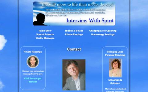 Screenshot of Contact Page interviewwithspirit.com - The Interview With Spirit Show - captured Oct. 6, 2014