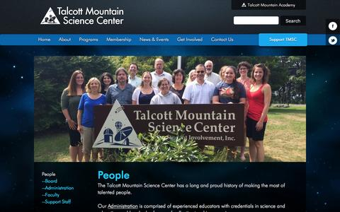 Screenshot of Team Page tmsc.org - People   TMSC.org - captured Feb. 27, 2016
