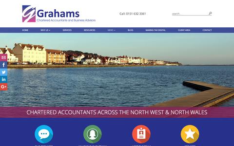 Screenshot of Press Page grahams.uk.com - News | Grahams - Chartered Accountants across the North West and North Wales | Accountants - captured Sept. 10, 2017