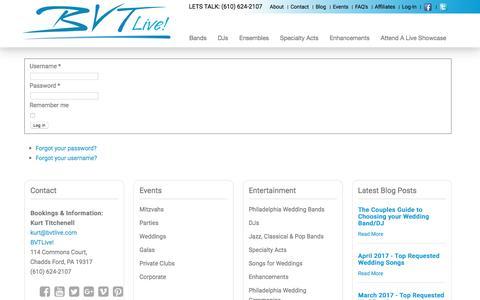 Screenshot of Login Page bvtlive.com - Log in - captured May 31, 2017