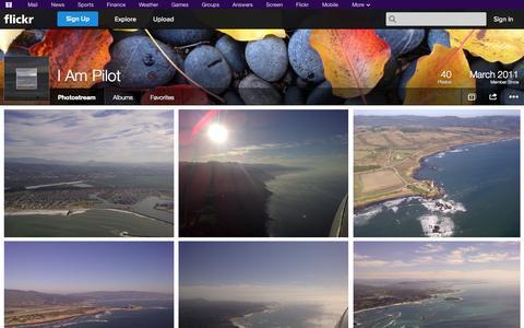 Screenshot of Flickr Page flickr.com - Flickr: I Am Pilot's Photostream - captured Oct. 23, 2014