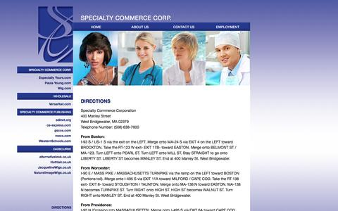 Screenshot of Maps & Directions Page specialtycommerce.com - Specialty Commerce Corp. - Directions - captured Oct. 7, 2014