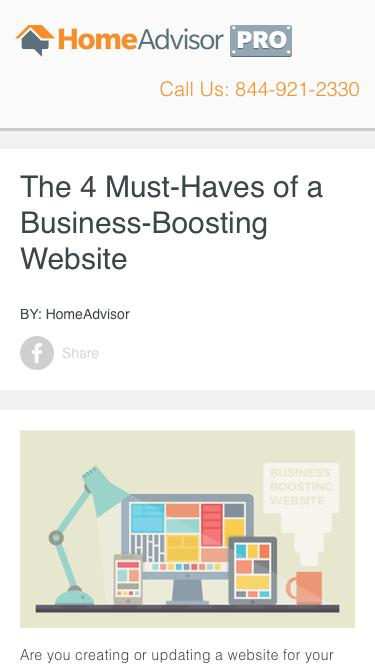 HomeAdvisor Pro | The 4 Must-Haves of a Business-Boosting Website