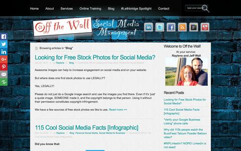 Screenshot of Blog offthewallsocial.com - Blog Archives - Off the Wall Social Media Off the Wall Social Media - captured Oct. 19, 2017