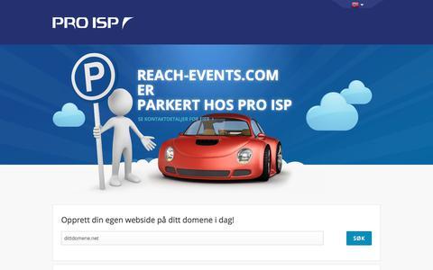 Screenshot of Home Page reach-events.com - reach-events.com - captured Oct. 20, 2017