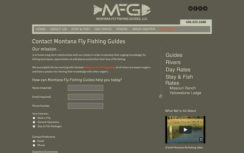 Screenshot of Contact Page montanaflyfishingguides.com - Contact Montana Fly Fishing Guides | MontanaFlyFishingGuides.comMontana Fly Fishing Guides, LLC. - captured Oct. 26, 2014