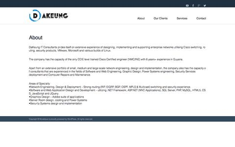 Screenshot of About Page dakeung.com - About | DaKeung I.T Consultants - captured May 10, 2016