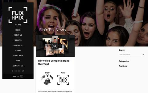 Screenshot of Press Page flixnpix.co.uk - Flix'n'Pix News - captured Aug. 16, 2018