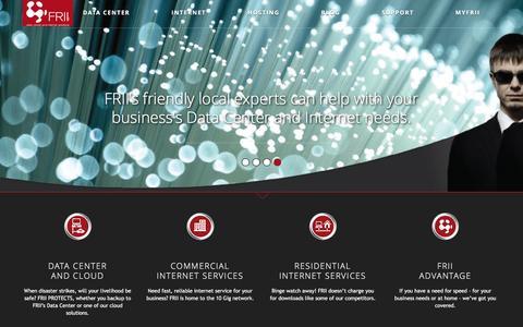Screenshot of Home Page frii.com - frii.com | FRII: Connect. Serve. Protect. - captured Nov. 25, 2016