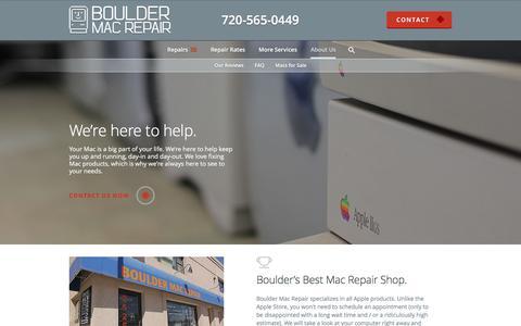 Screenshot of About Page bouldermacrepair.com - About Boulder Mac Repair - captured March 13, 2016